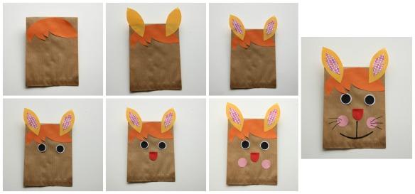 collage konijn